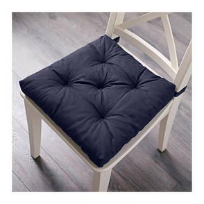 МАЛИНДА Подушка на стул, синий, 40/35x38x7 см, 20202747, ИКЕА, IKEA, MALINDA, фото 2