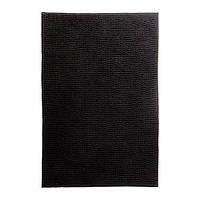 ТОФТБУ Коврик для ванной, черный, 90х60, 20260247, IKEA, ИКЕА, TOFTBO