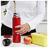 ХЭЛЬСА Стальной термос, красный, 90292117, ИКЕА, IKEA, HALSA - Фото