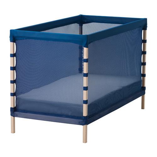 ФЛИТИНГ Кроватка детская, бук, классический синий, 60x120 см, 60226138