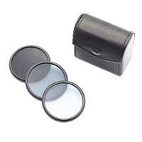 52мм Набор нейтральных светофильтров ND2 / ND4 / ND8 для объектива камеры фильтр нейтральной плотности для фотографии Чёрный