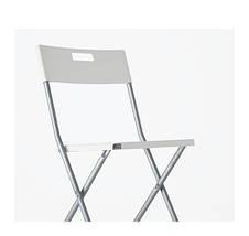 ГУНДЕ Стул складной, белый, 60217799, ИКЕА, IKEA, GUNDE, фото 2
