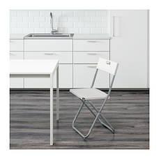 ГУНДЕ Стул складной, белый, 60217799, ИКЕА, IKEA, GUNDE, фото 3
