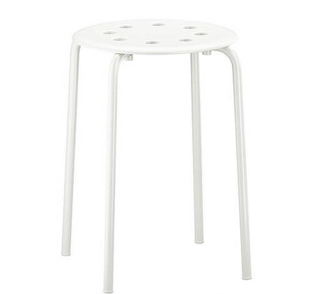 МАРИУС Табурет, белый, 90184047, ИКЕА, IKEA, MARIUS, фото 2
