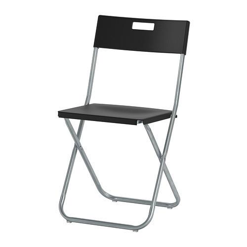 ГУНДЕ Стул складной, черный, 00217797, ИКЕА, IKEA, GUNDE