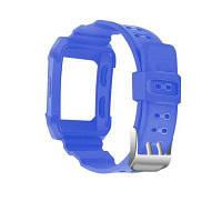 Для Fitbit Ионный ремешок силиконовая рамка корпус и ремешок Синий