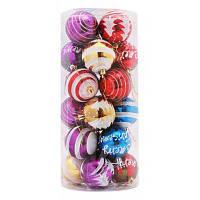 MCYH 298 Рождественские елочные украшения шары 24шт Разноцветный