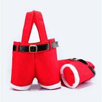 Рождественский мешок для подарков украшение 2шт Красный