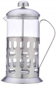 Стеклянный заварник для чая с прессом Con Brio 350мл стекло и нержавеющая сталь СВ5035