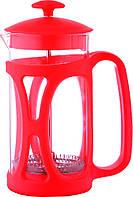 Стеклянный заварник для чая Con Brio 800мл цвет красный СВ5380