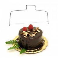 Профессиональный резак для торта с двойной проволокой из нержавеющей стали Серебристый