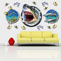 Творческий 3D эффект DIY Съемный Подводный мир обои Разноцветный