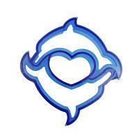 Пластиковая форма дельфин для выпечки печенья кухонный гаджет Синий