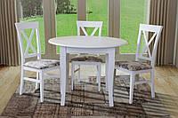Стол обеденный Остин (не раскладной) круглый белый матовый