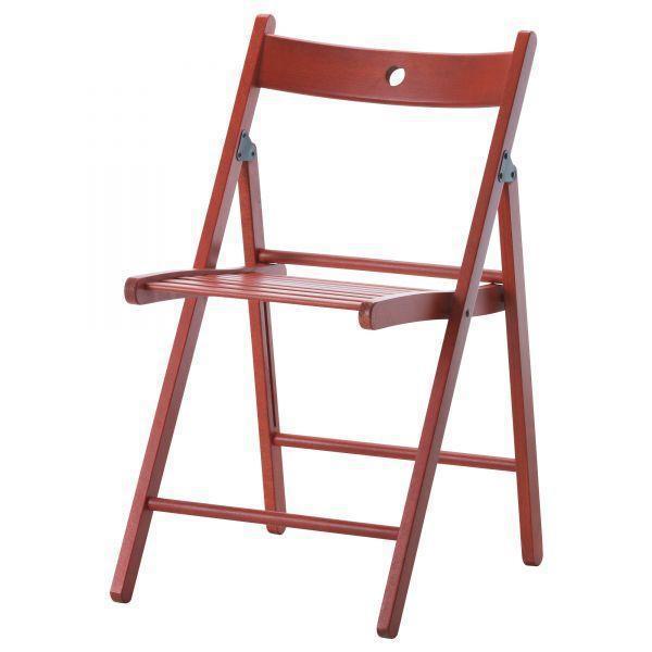 ТЕРЬЕ Стул складной, красный, 40225677, ИКЕА, IKEA, TERJE
