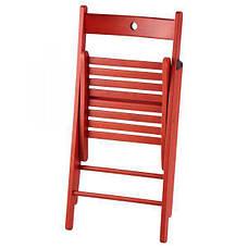 ТЕРЬЕ Стул складной, красный, 40225677, ИКЕА, IKEA, TERJE, фото 2