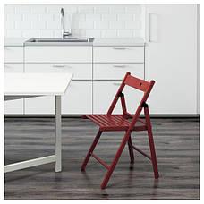 ТЕРЬЕ Стул складной, красный, 40225677, ИКЕА, IKEA, TERJE, фото 3
