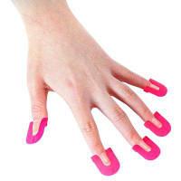 Колпачок для ногтей 26шт розово-красный