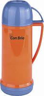 Вакуумный термос со стеклянной колбой Con Brio оранжевый CB350