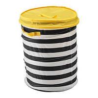 ФЛЮТТБАР Корзина c крышкой, желтый, 80328824, ИКЕА, IKEA, FLYTTBAR