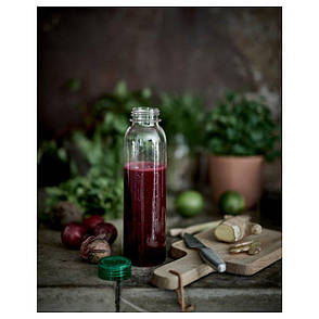 БЕХОЛЛАРЕ Бутылка для воды, прозрачный, 0.6л, 80284660, ИКЕА, IKEA, BEHALLARE  , фото 2