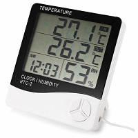 Метеорологическая станция цифровой измеритель температуры и влажности с ЖК-дисплеем Белый