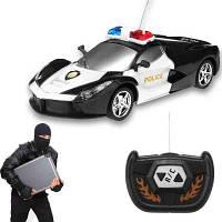 Радиоуправляемый полицейский автомобиль с 2-канальным беспроводным пультом дистанционного управления Чёрный