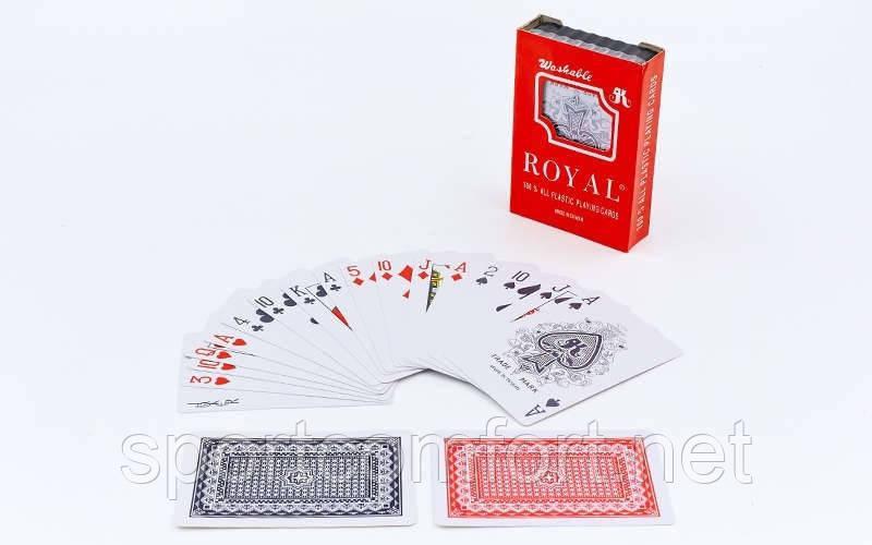Покерные карты из пластика в футляре