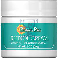 Крем для лица антивозрастной от морщин и пигментных пятен с ретинолом Puritan's Pride Retinol Cream 56 г