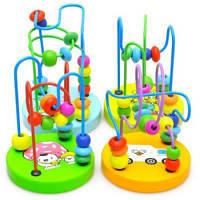 Детская деревянная развивающая игрушка бусины Цветной