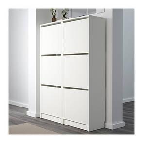 БИССА Комод для обуви, 3 ящика, белый, 10242739, IKEA, ИКЕА, BISSA, фото 2
