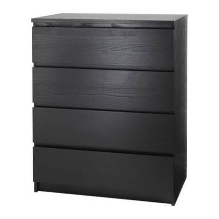 МАЛЬМ Комод, 4 ящика, темно-коричневый, 30403566, IKEA, ИКЕА, MALM, фото 2