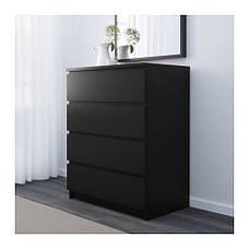 МАЛЬМ Комод, 4 ящика, темно-коричневый, 30403566, IKEA, ИКЕА, MALM, фото 3