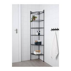 РЁНШЭР Стеллаж угловой, черный, IKEA, ИКЕА, RONNSKAR, фото 2