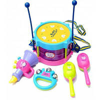 Детские музыкальные инструменты с барабаном 5шт Цветной