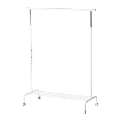 РИГГА Напольная вешалка, белый, 50231630, IKEA, ИКЕА, RIGGA