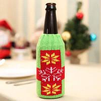 Macroart px-140 Чехол снеговик для бутылки вина рождественское украшение Зелёный