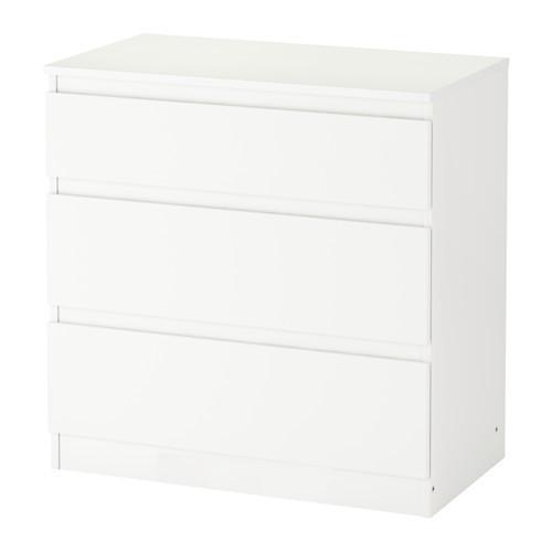 КУЛЛЕН Комод, 3 ящика, белый, 60309237, IKEA, ИКЕА, KULLEN