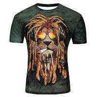 Мужская трехмерная львиная рубашка с коротким рукавом L