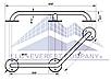 Поручень для инвалидов усиленный  пристенный угловой, Ø 32мм - 350х350мм, фото 2