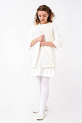 Нежное подростковое платье с жемчугом