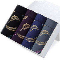 Мода Хлопок Печатное белье Мужчины Боксеры Трусы Мягкие дышащие мужские трусики 2XL