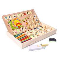 Математическая интеллектуальная игрушка для образования доска с разными цифрами и цветами 32 x 19 x 4 см