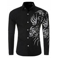 Мужской Печатных Рубашка С Длинным Рукавом M