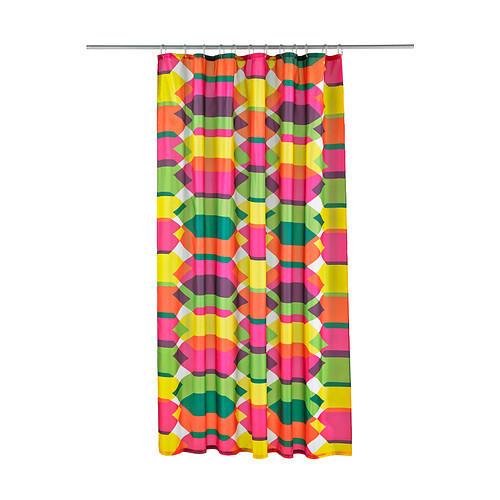 ЛИЛЬШЭР Штора для ванной, разноцветный, 60273511, IKEA, ИКЕА, LILLSKAR