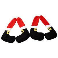 Рождественские чехлы на ножки стола украшение 4шт Цветной