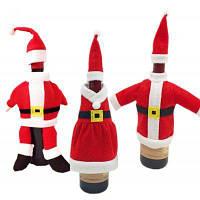 Macroart РХ-133 Рождественские украшения наборы для вина 3шт Красный