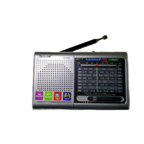 Портативна колонка радіо MP3 USB Golon RX 6622 Silver