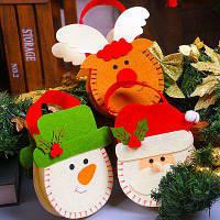 MCYH YH596 Рождественский подарочный мешок для сладостей 3шт Цветной