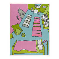 РУММЕТ Коврик, короткий ворс, разноцветный, 100x133 см, 00239959, IKEA, ИКЕА, RUMMET